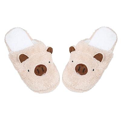 FENZL Lovely Pig Home Floor Soft Stripe Slippers Female Shoes