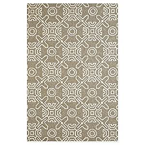 Panama Jack Maui 2-Foot 3-Inch x 3-Foot Indoor/Outdoor Rug in Grey
