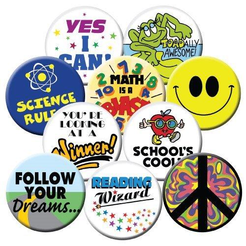 Badge-A-Minit 100S 2 1//4 Badge-A-Minit Button Machine Starter Kit School Edition