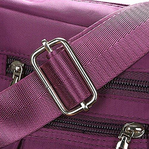 Clearance Sale Women Crossbody Bag Nylon, Fashion Solid [ Zipper Waterproof Shoulder Bag ] (Purple) by Vanvler Backpack (Image #5)