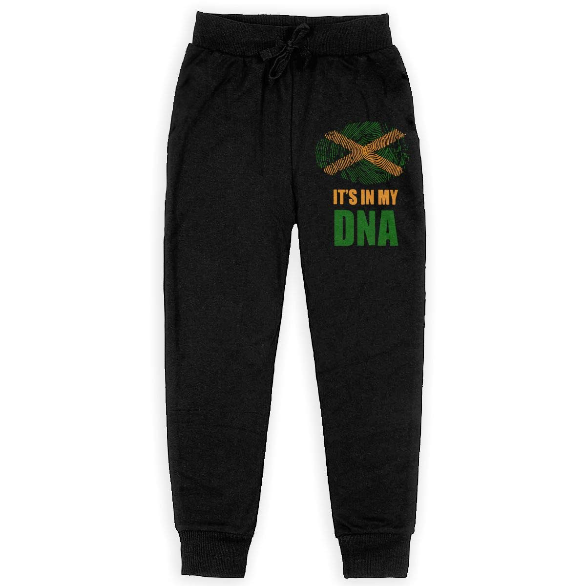 Jamaican Its in My DNA Soft//Cozy Sweatpants Boys Active Basic Jogger Fleece Pants for Teen Boy