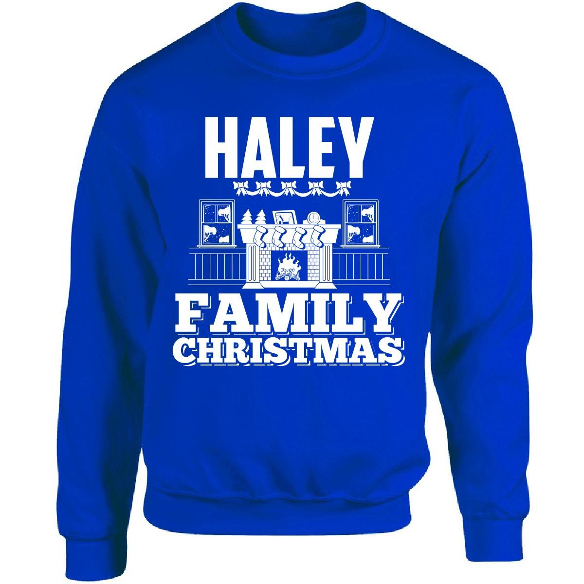 2c90c7c3 Haley Family Christmas - Adult Sweatshirt at Amazon Men's Clothing store: