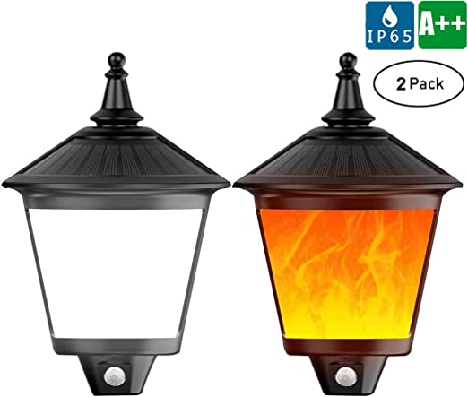 87 LED Luz solar del jardín 2 pack, IP65 Impermeable Lámpara de ...