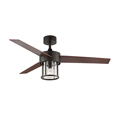 Buy Wingbo 52 Caged Ceiling Fan With Light Kit And Remote Industrial Metal Cage Ceiling Fan Old Bronze 3 Reversible Blades Farmhouse Ceiling Fan For Indoor Kitchen Living Room Bedroom Etl Listed