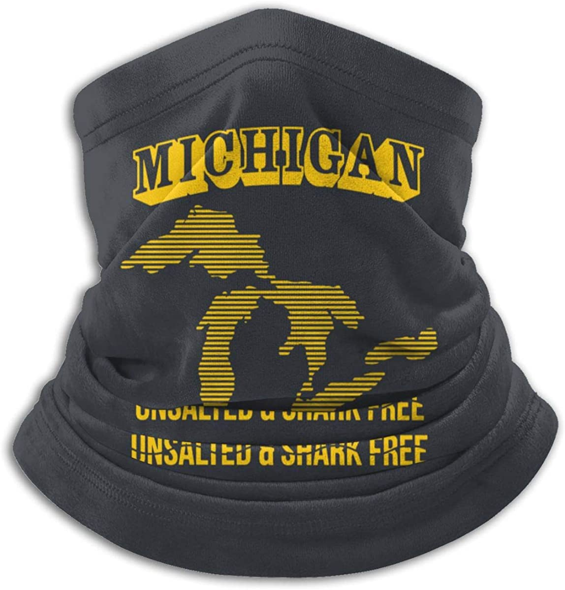 Michigan Unsalted Shark Free Face Mask Protection from Dust Uv Washable Warmer Scarf