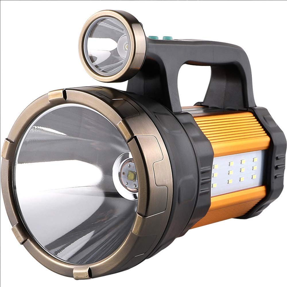 Suchscheinwerfer LED Multifunktionslicht wiederaufladbare tragbare Handscheinwerfer Camping Lichter Mobile Power High Power Superhelle 950W Taschenlampe Blendung 5000 Superhelle Xenonlichtjagd Fernbed