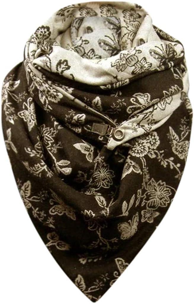 /Écharpe de haute qualit/é avec r/étro imprim/é pour homme et femme Militaire foulard homme hiver ch/âle bouton classique chaud Balock /Écharpe triangle en coton