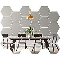 Gsyamh Adhesivo De Pared De Espejo Hexagonal Espejo Hexagonal 3D Decorativo De Bricolaje Espejo De Acrílico Hexagonal…
