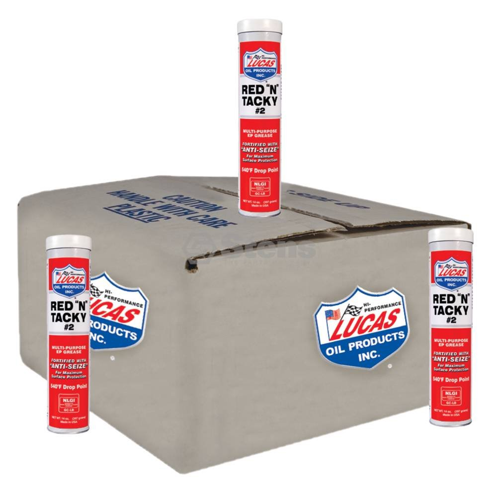 Lucas Oil Red N Tacky Grease, 10 Tubes/14 oz. OREGON