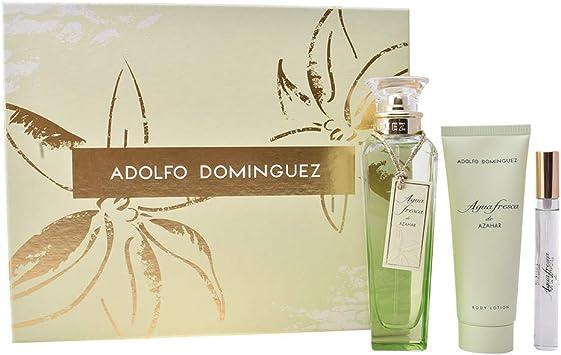Adolfo Dominguez Agua Fresca de Azahar, Regalo para el cuidado de la piel (3 piezas) - 1 pack: Amazon.es: Belleza