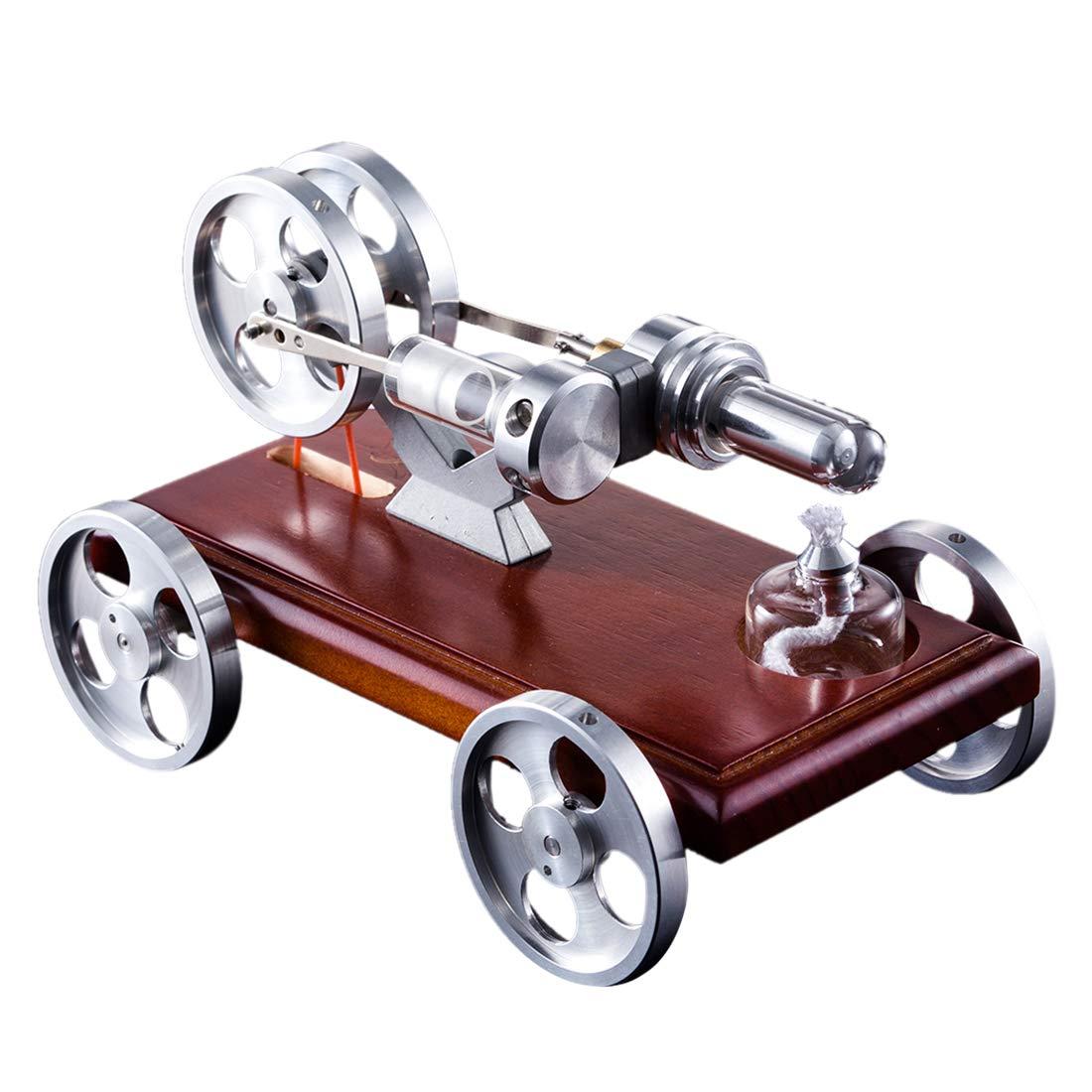 YVSoo Stirlingmotor Bausatz Auto 1 Zylinder Stirling Engine Kit Motormodell Motor Spielzeug Physikalische Wissenschaft für Kind, Teenager