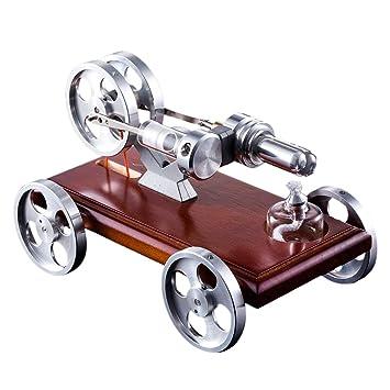 ZUJI Stirlingmotor Bausatz 1 Zylinder Motor Stirling Engine Kit DIY Modell Kit Educational Physik Spielzeug