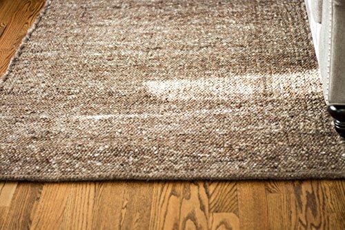 Super Area Rugs Soft Wool Textured Pebble Berber Mid-Century Modern Rug 5' x 7', Brown ()
