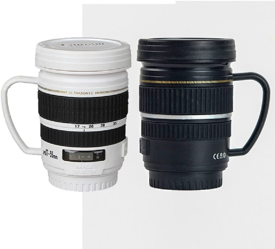 / Creative SLR Camera Home Office Thermos Tasse noir Ferryman Mug /à caf/é/
