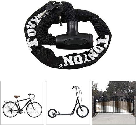 LieYuSport Cadena Bicicleta Candado,Candado Bicicleta Alta Seguridad Antirrobo Bicicleta para Candado Moto Eléctricos de Bicicleta Triciclo Scooter(90cm),Black: Amazon.es: Deportes y aire libre