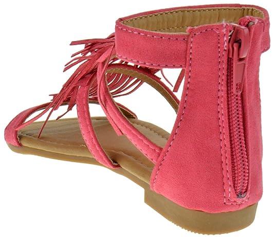 Link Kids Kesha58 Gladiator Roman Golden Strap Comfort Flat Sandal Shoes