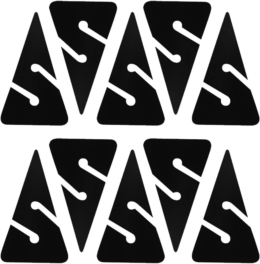 10Pcs Triangle PVC Dive Line Arrow Markers for Technical Scuba Cave Wreck Diving