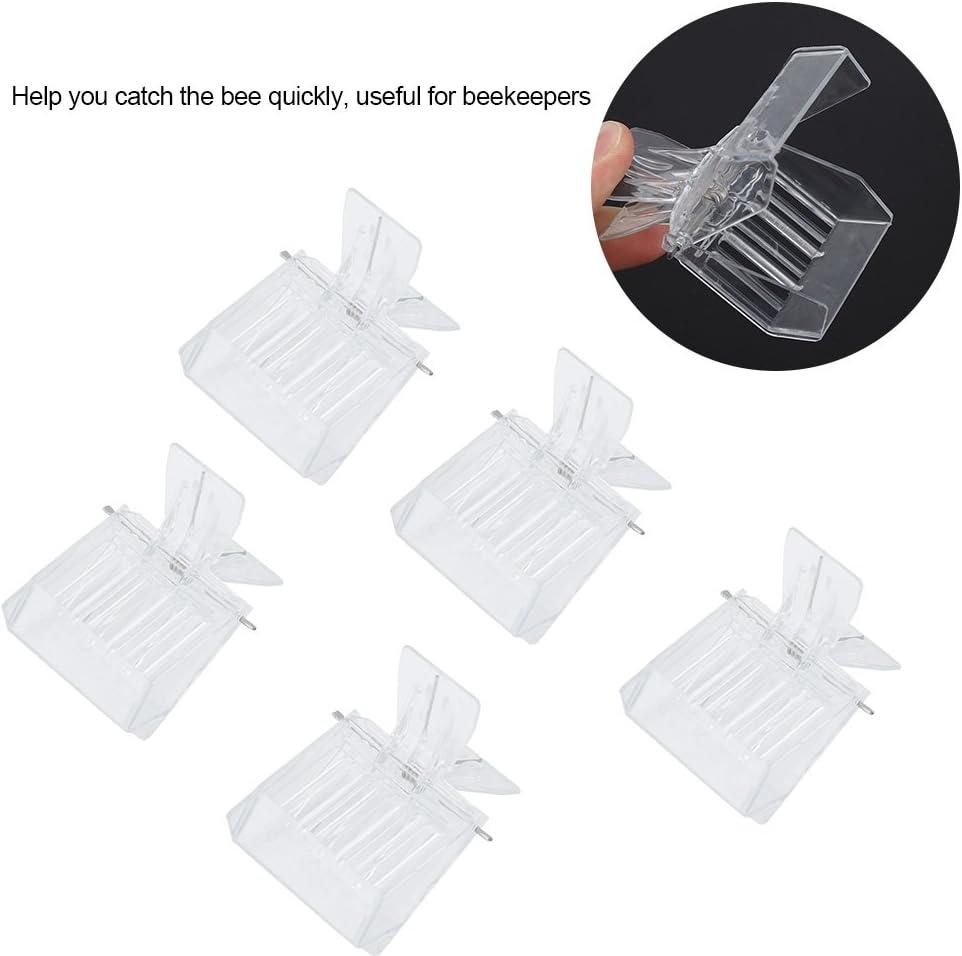 5pcs Plastic Queen Cage Clip Bee Catcher Beekeepers Beekeeping Tools EquipmentWs