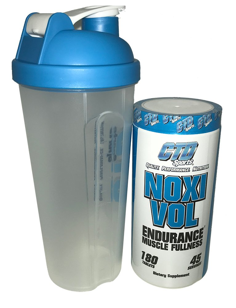 Free Shaker Cup Promo. Nitric Oxide Supplement, Powerful Muscle Building NO Booster with L-Arginine, Noxivol 180 Tablets by CDT Nutrition