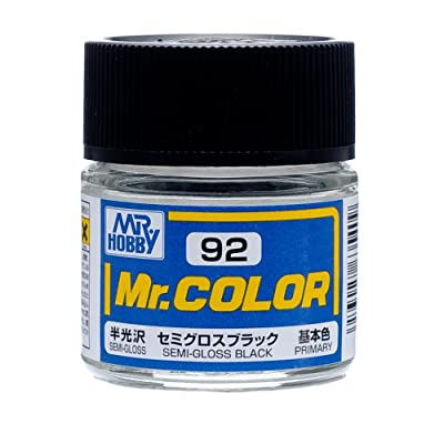 Mr. Color C92 Semi-Gloss Black paint by Mr. Hobby: Toys & Games