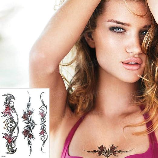 Handaxian 3 Piezas Impermeable Tatuaje Chica Cuerpo Mano pequeña ...