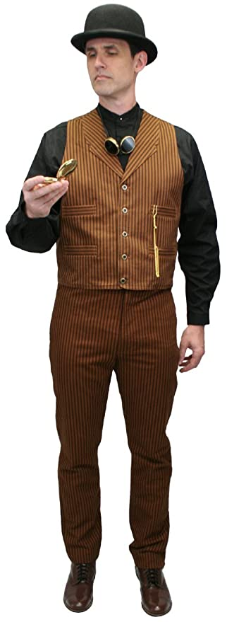Men's Steampunk Clothing, Costumes, Fashion Chadwick Cotton Dress Vest $59.95 AT vintagedancer.com