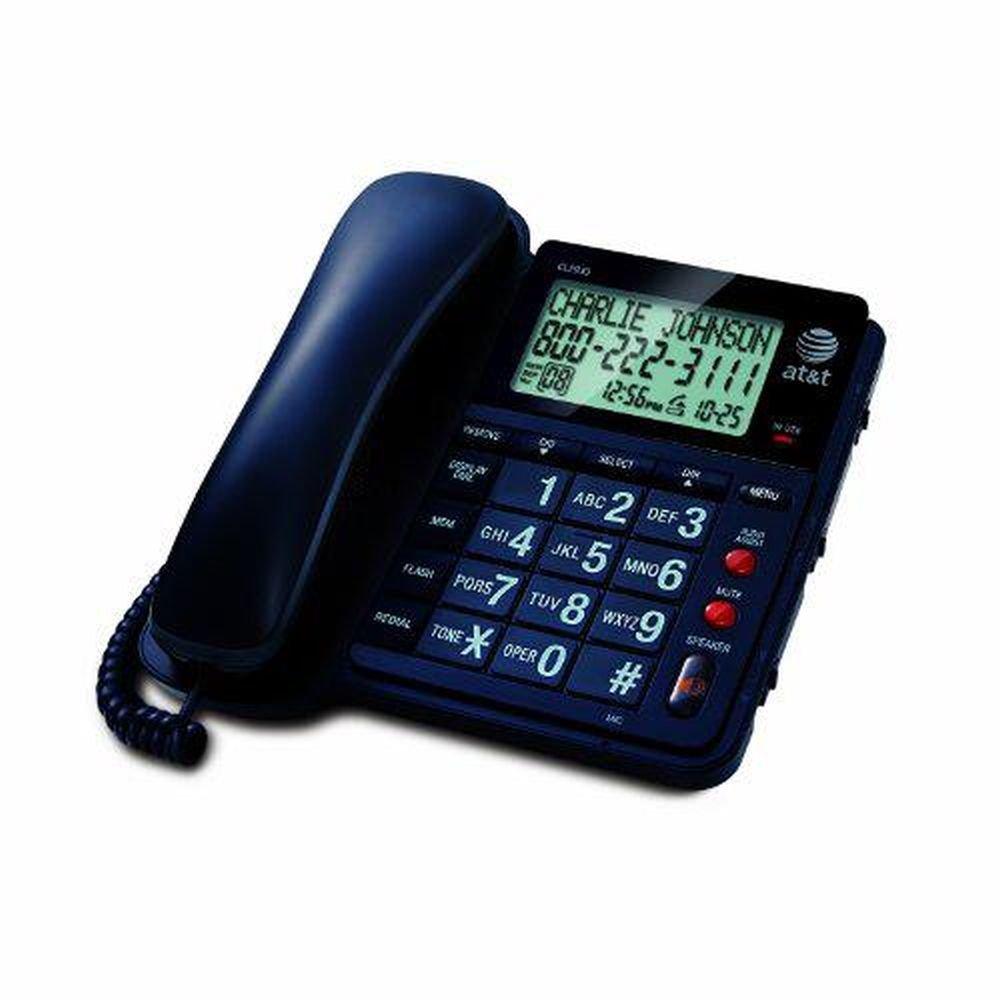 Amazon.com : ATu0026T CL2939 Corded Phone, Black, 1 Handset : Corded Telephones  : Electronics