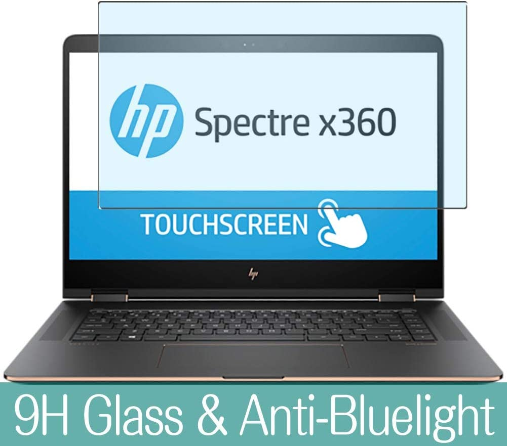 """Synvy Anti Blue Light Tempered Glass Screen Protector for HP Spectre x360 15-bl100 / bl112dx / bl152nr / bl101na / bl100nx 15.6"""" Visible Area 9H Protective Screen Film Protectors"""