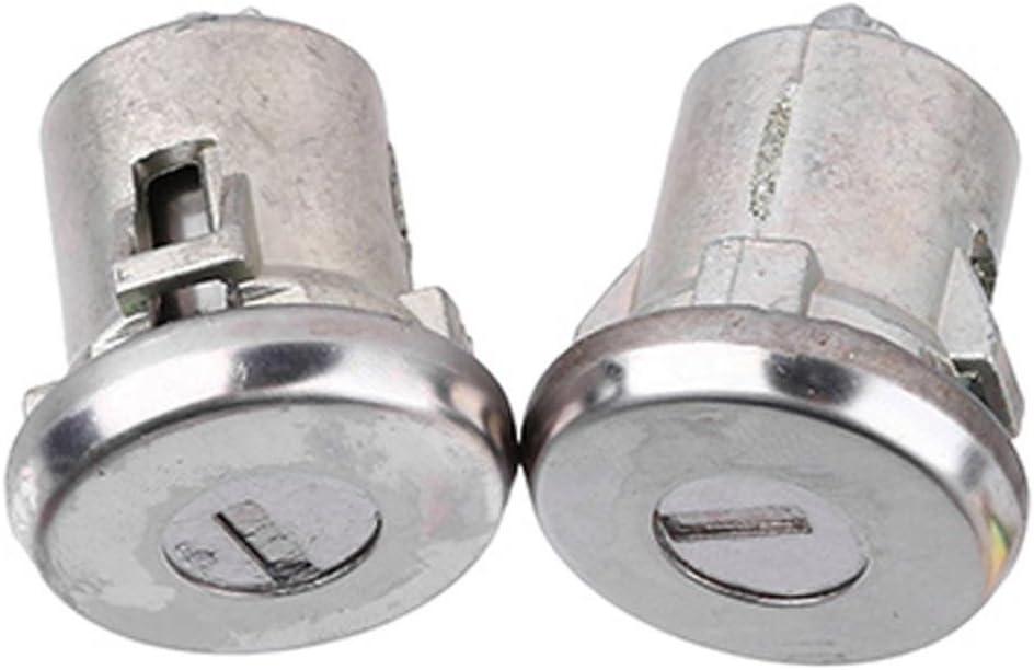 Par de cilindros de cerradura de puerta de plata Lockcraft 5070006 para Chevrolet Truck SUV