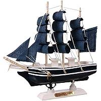 Creative Retro Pirate Ship Artigianato in legno Ornamenti decorativi Mediterraneo Modello di barca a vela Decorazione nautica