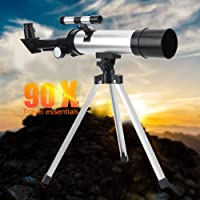 Telescópios para adultos, crianças, iniciantes, alta definição, 90X, telescópio monocular, refrator de escopo espacial…