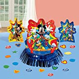 """Toys : Amscan DisneyMickey Mouse Birthday Party Assorted Table Decorating Kit (23 Pack), 12.5"""", Multicolor"""