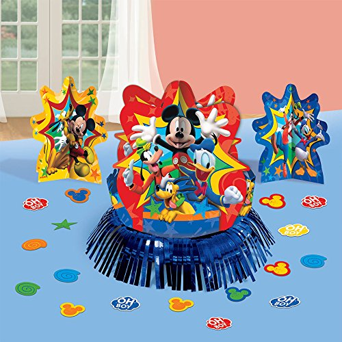 Amscan DisneyMickey Mouse Birthday Party Assorted Table Decorating Kit (23 Pack), 12.5