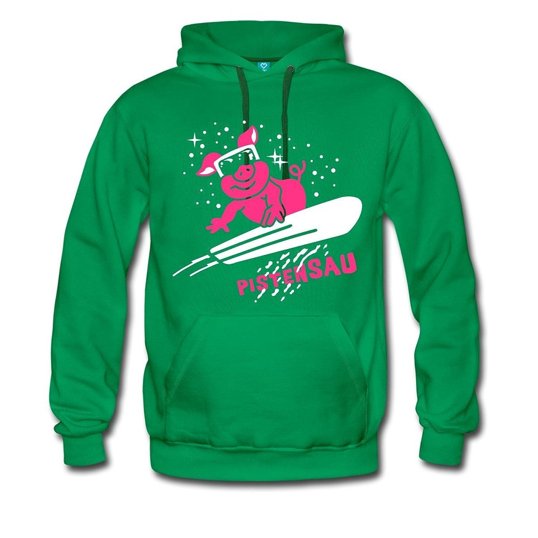 Pistensau Ski Snowboard Männer Premium Kapuzenpullover von Spreadshirt®