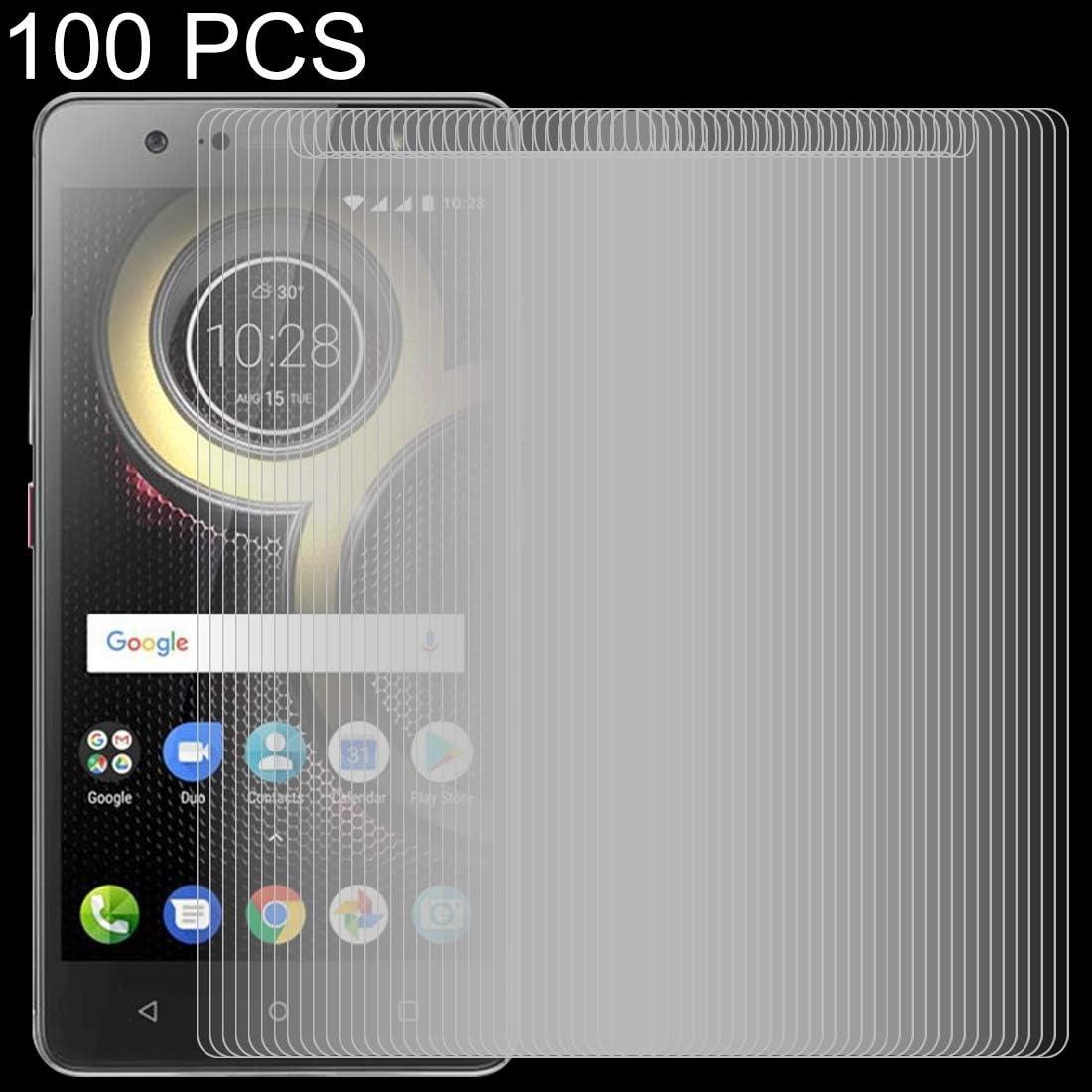 GUOSHU Premium Tempered Glass Screen Film 100 PCS 0.26mm 9H 2.5D Tempered Glass Film for Lenovo K8 Plus Anti-Scratch Screen Protector