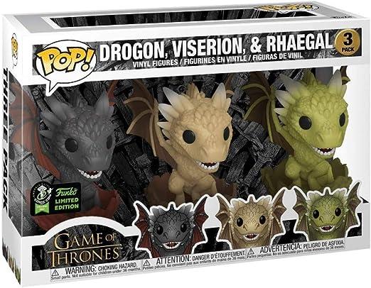 YYBB Pop TV: 3 Pack - Juego de Tronos - Dragones eclosión (Drogon ...
