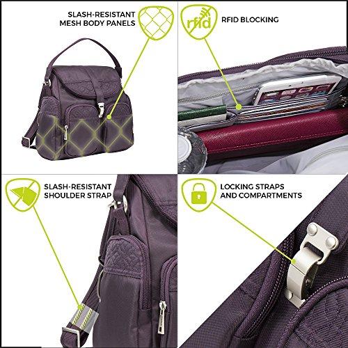 Travelon Anti Theft Signature Convertible Backpack Black
