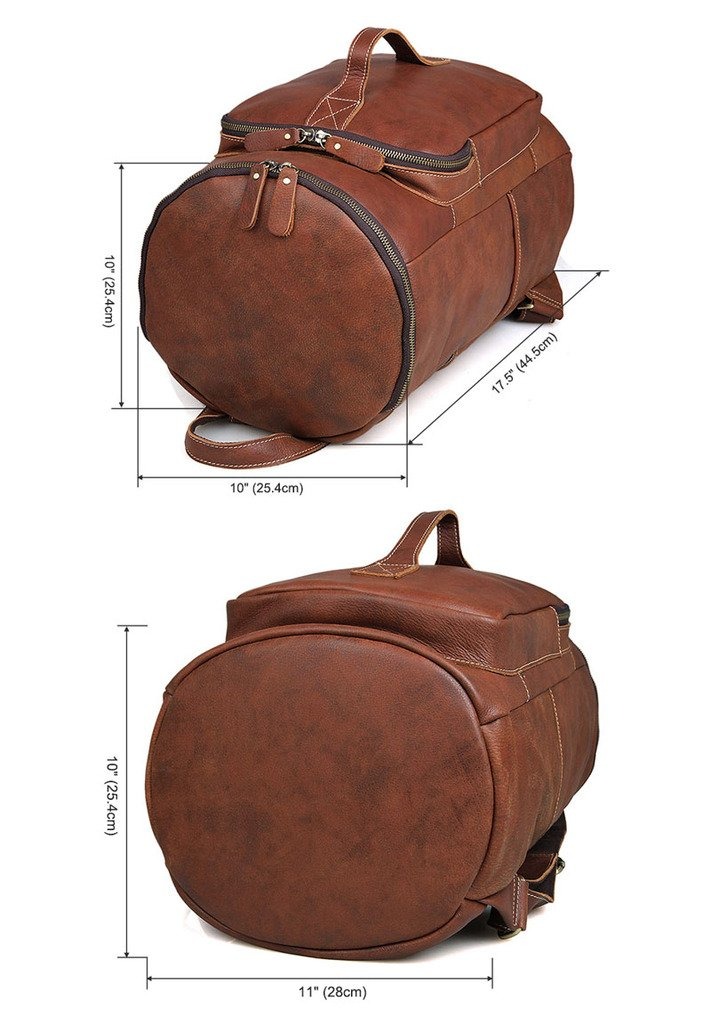 Jellybean Handmade Vintage Style Luxury Real Leather Backpack Travel Bag Holdall Weekend Bag Luggage Bag Overnight Bag by Jellybean Gorilla