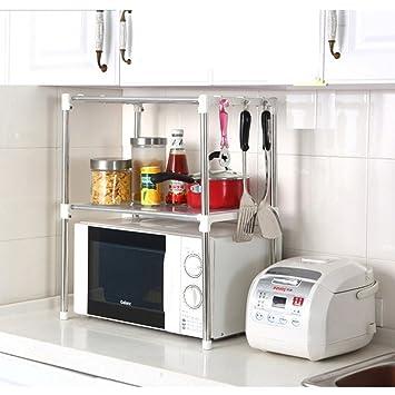 Amazon.de: Xiton Küchen Racks Edelstahl Lagerung Mikrowelle Regal ...