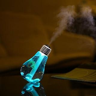 Gaddrt purificateur d'air 400ML Lampe LED humidificateur Home Aroma Diffuseur d'air purificateur d'atomiseur Cadeau Silver