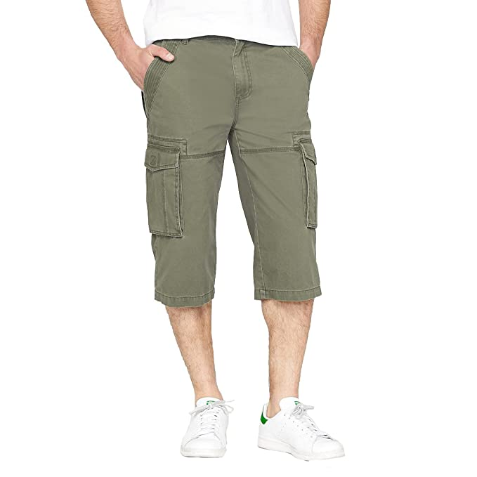 buy online af3ff 111a8 La Redoute Collections Uomo Pantaloni A Pinocchietto Cargo Arnaud Puro  Cotone