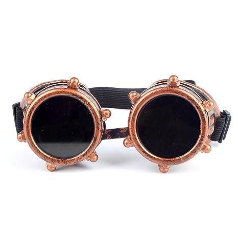 OMG _ tienda Retro Steampunk Goggles Soldadura Punk Gafas Cosplay Victorian gafas de soldadura gafas,