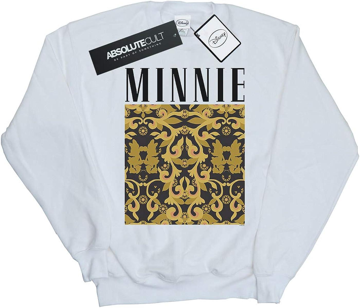 Disney Girls Minnie Mouse Baroque Pattern Sweatshirt