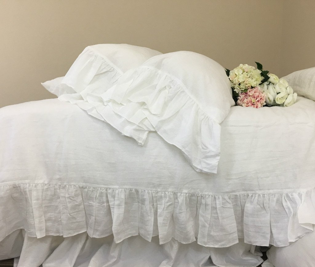 Amazon com white duvet cover with mermaid long ruffles