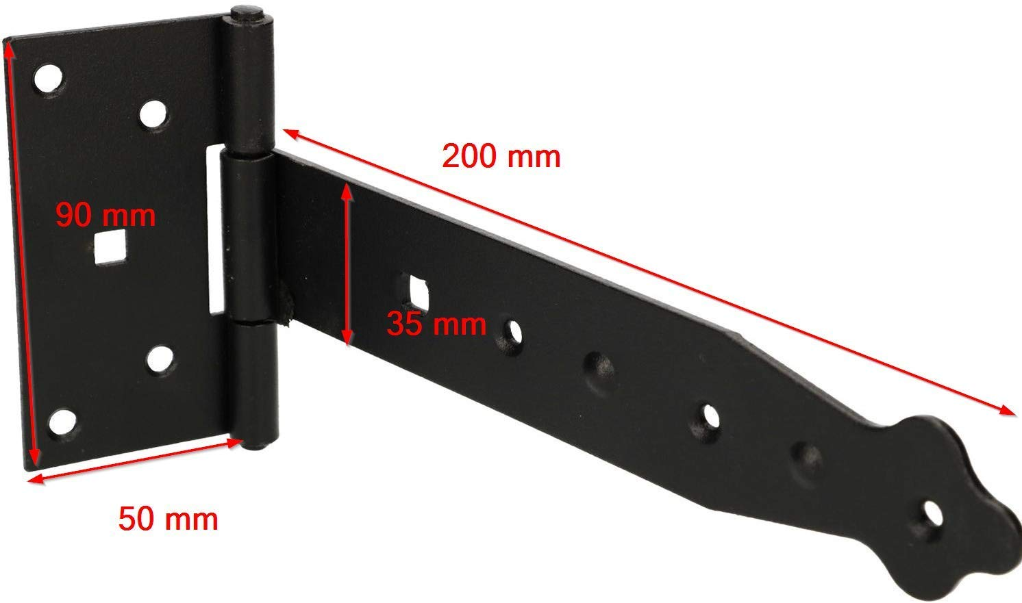 KOTARBAU Werfgeh/änge 250 mm T/ürband Torscharnier Pulverbeschichtet Ladenband Kreuzgeh/änge T/ürscharnier Band Scharnier Schwarz Rostfrei Top