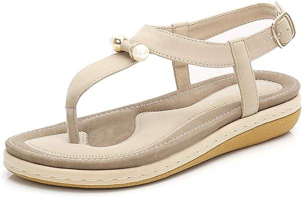 Womens Sparkle Star Summer Flat Thong Sandals Comfort Bohemian Slip on Flip Flop Shoes