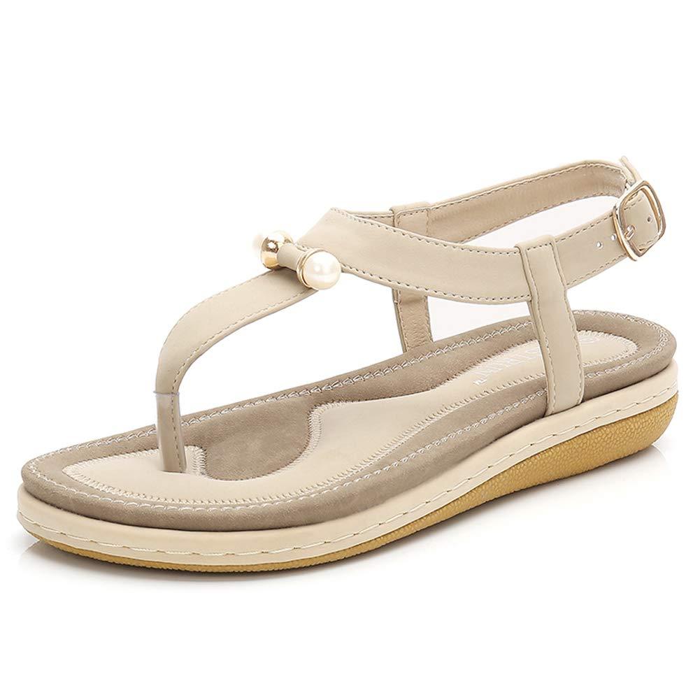 993df108eb CARETOO Women Flat Sandals, T Strap Summer Thong Shoes, Flip Flop Casual  Glitter Shoes