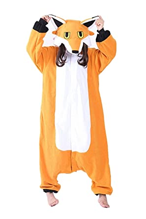 96796cf109f4 Amazon.com  Mr. Fox Onesie Costume for Adults and Teenagers ...