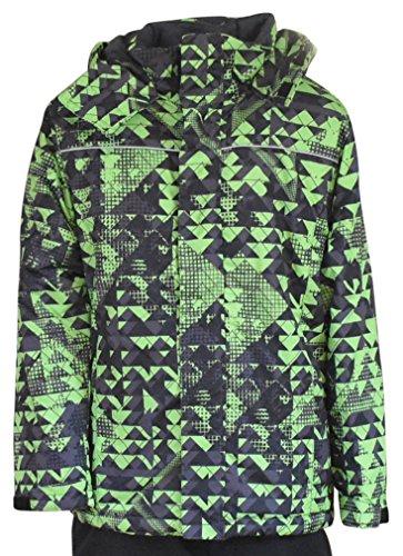 Pulse Big Boys Youth Insulated Edge Mountain Ski Jacket (Small (8/10), Green)