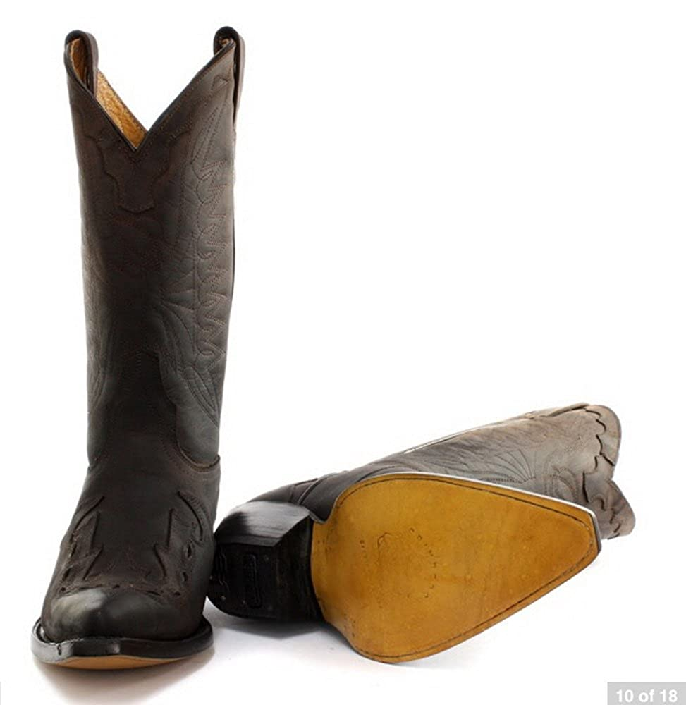 Grinders Unisex Cowboy Mitte Wade Braun Stiefel mit Blickfang Blickfang Blickfang Naht Detail. e3a1a5